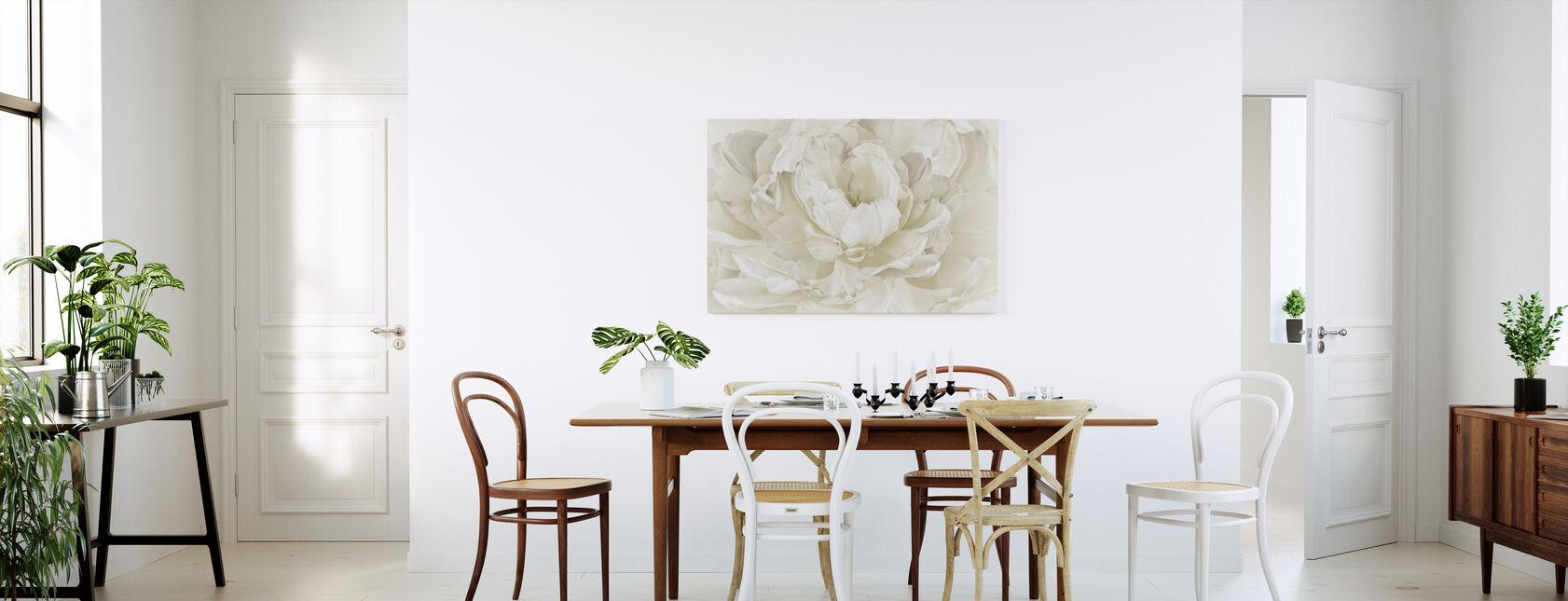 Ivory White Double Tulip - Canvas print - Kitchen