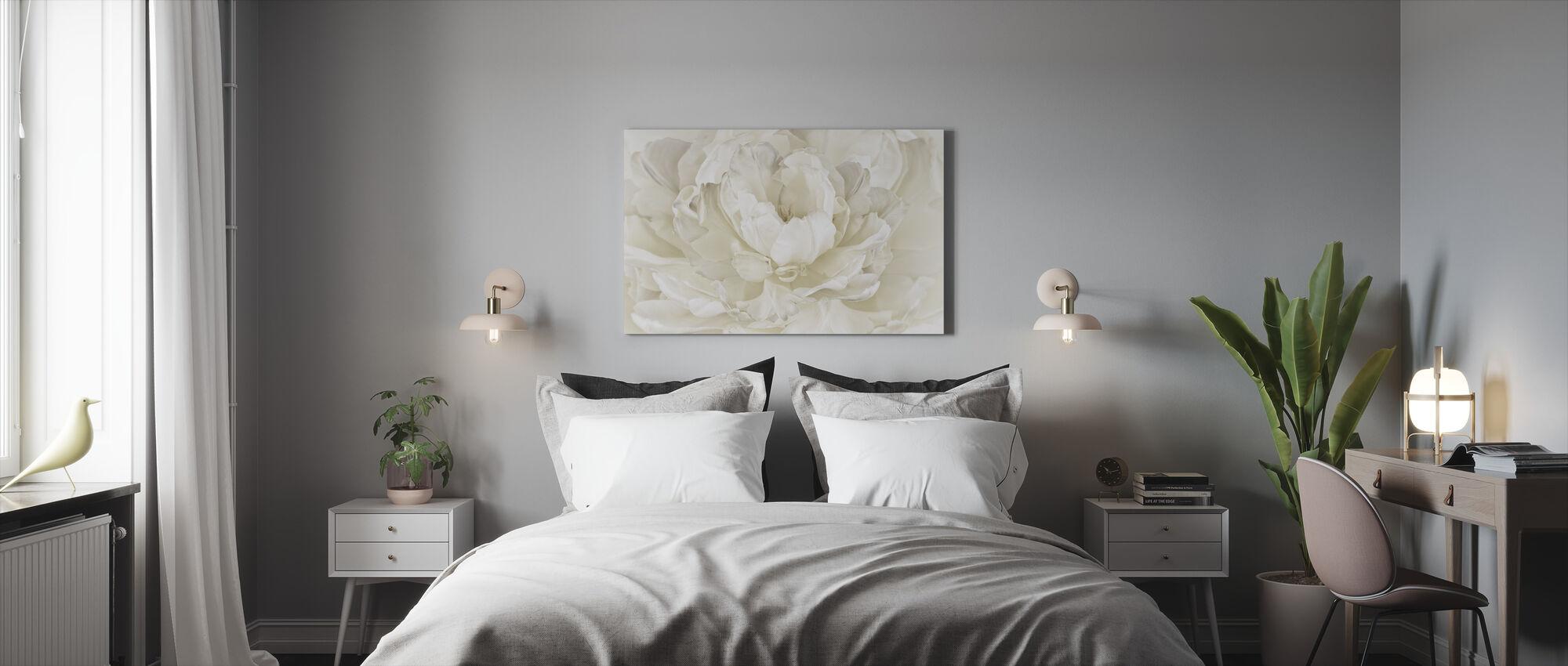 Ivory White Double Tulip - Canvas print - Bedroom