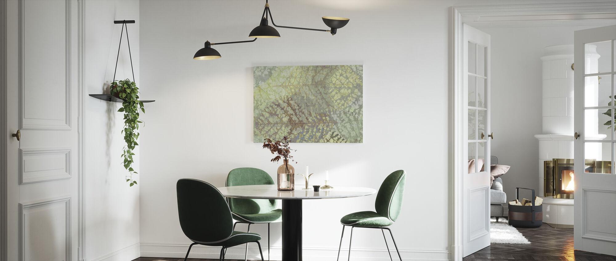 Lys bladmønster - Lerretsbilde - Kjøkken