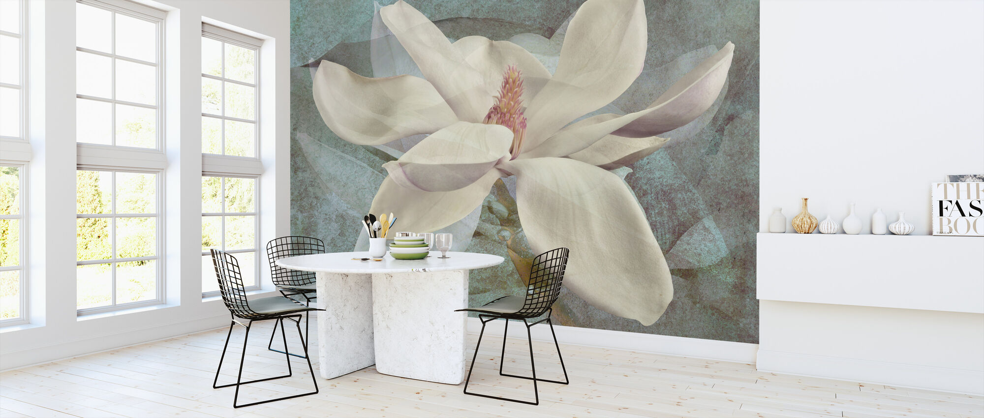 Magnolia Shades - Wallpaper - Kitchen