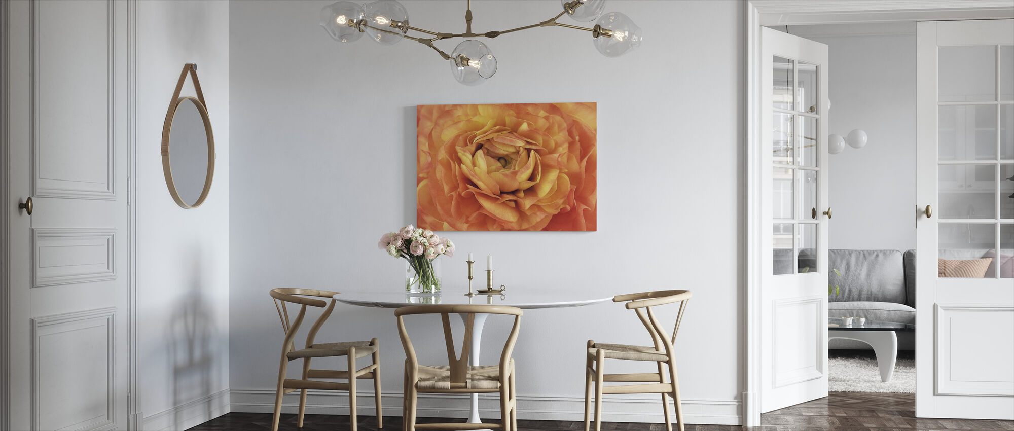 Orange Buttercup - Canvas print - Kitchen