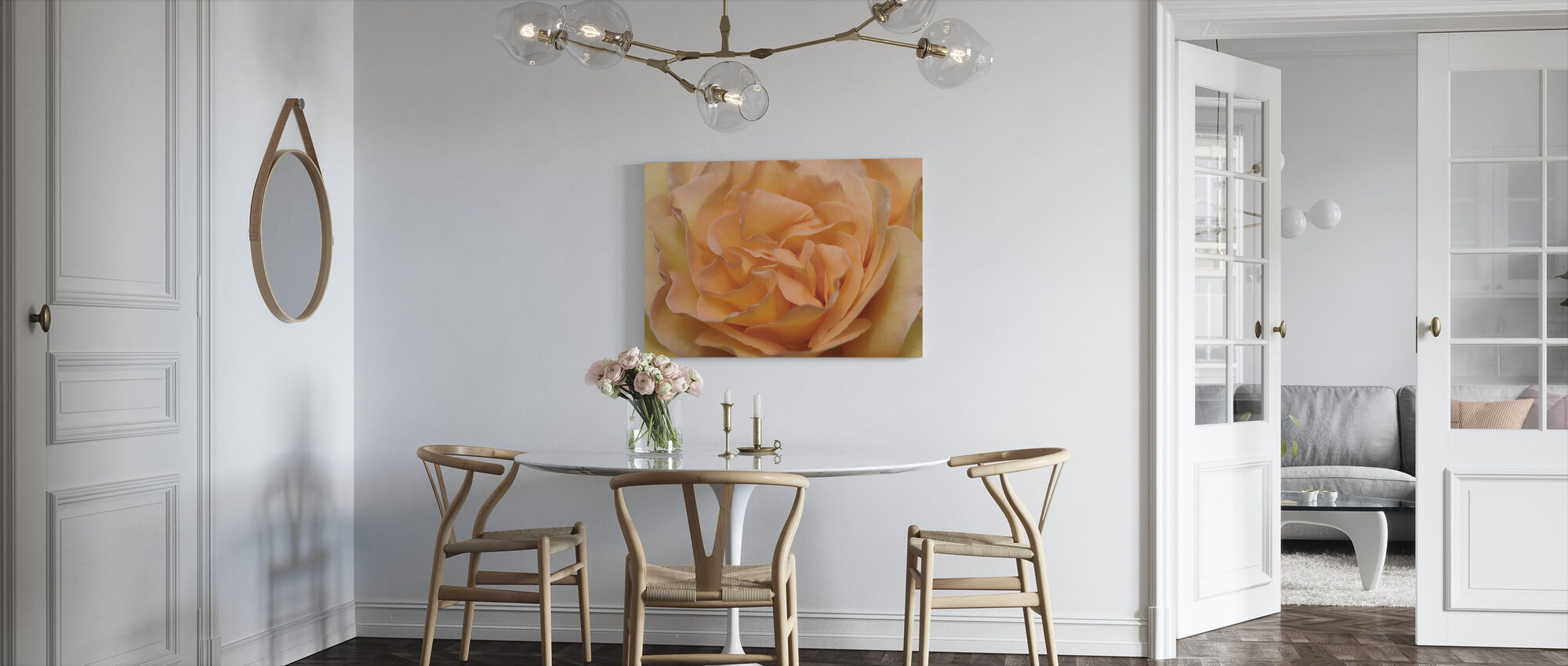 Orange Rose - Canvas print - Kitchen