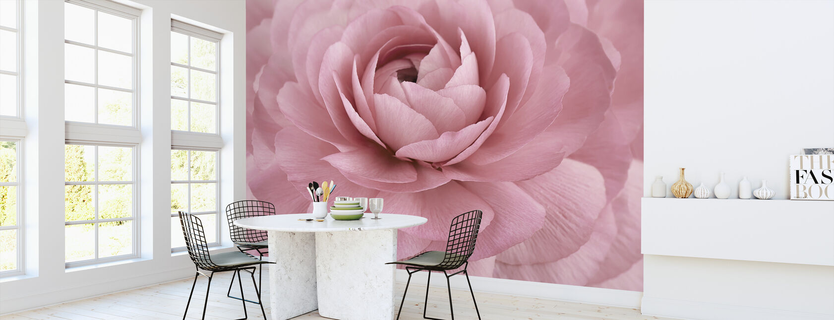 Pink Buttercup - Wallpaper - Kitchen