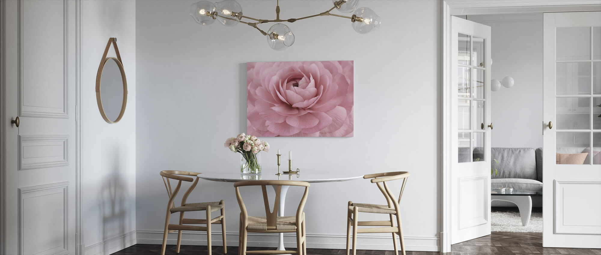 Pink Buttercup - Canvas print - Kitchen