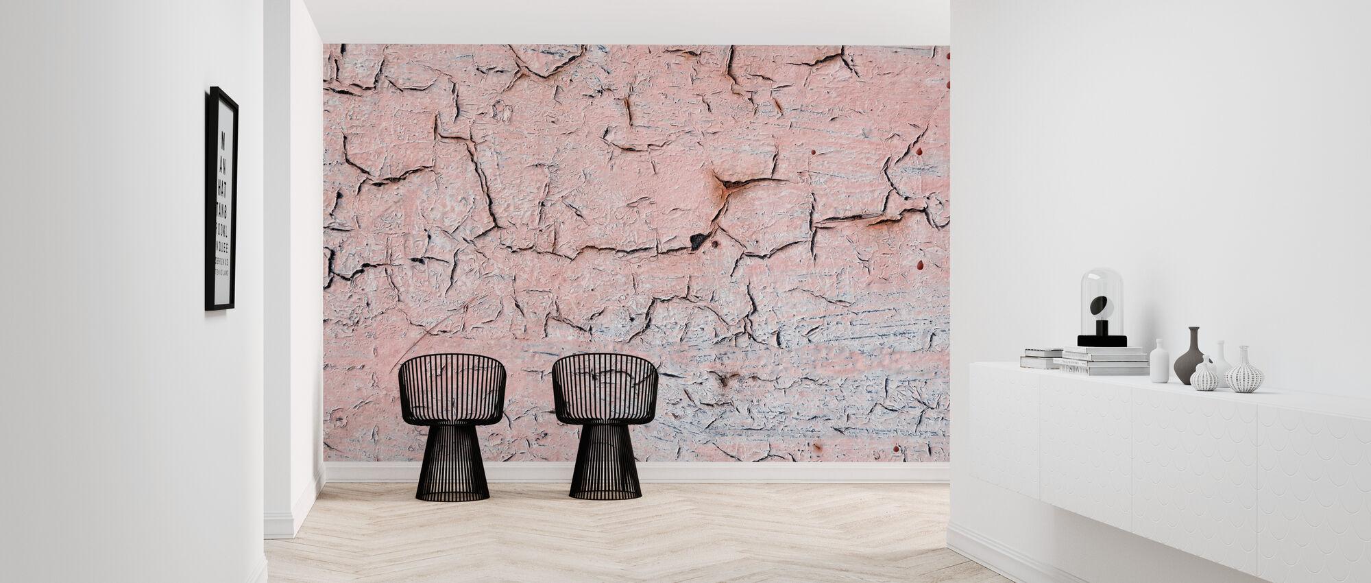 Pink Crackles - Wallpaper - Hallway