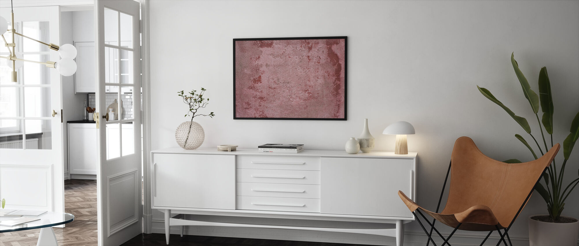 Rusty Patched Plate - Framed print - Living Room