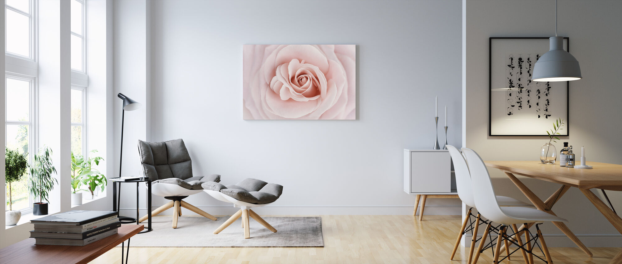 Soft Rose in Peach Pink Shades - Canvas print - Living Room