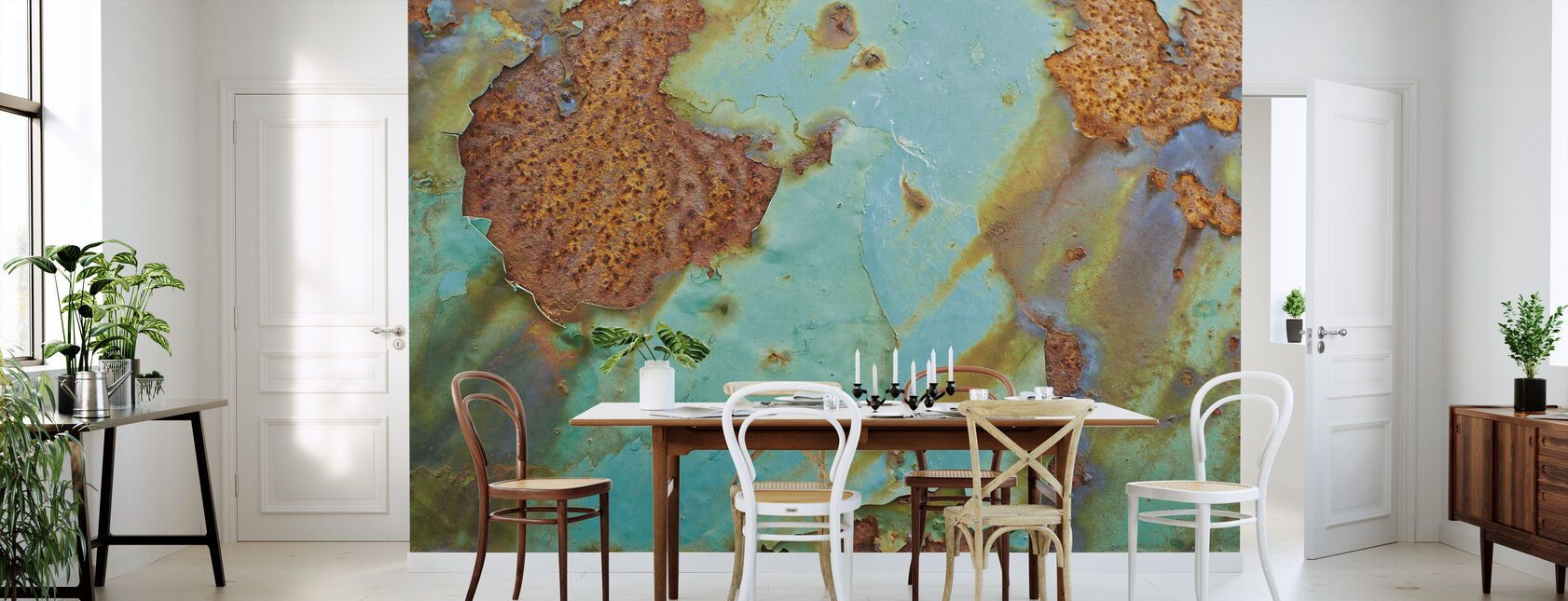 Turquoise and Rust - Wallpaper - Kitchen