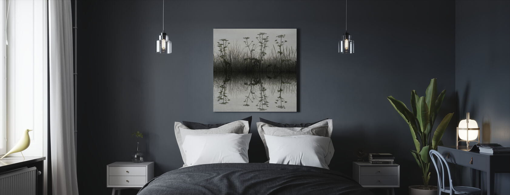Floral Water Reflection - Canvas print - Bedroom