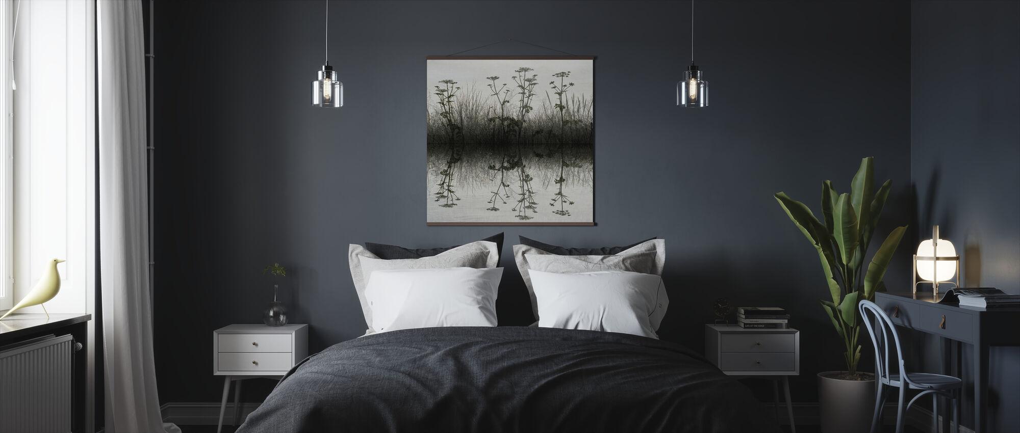 Floral Water Reflectie - Poster - Slaapkamer