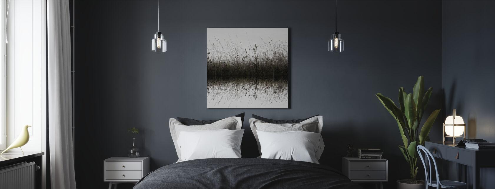 Vesi Heijastus luonnonvaraisia kukkia - Canvastaulu - Makuuhuone