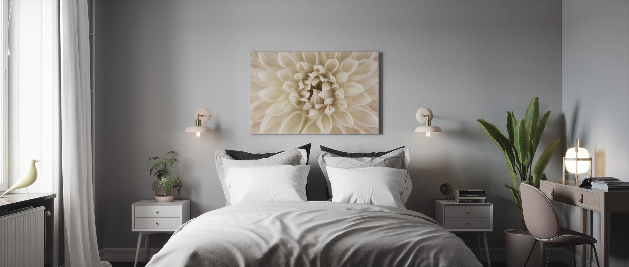 White Dahlia - Canvas print - Bedroom
