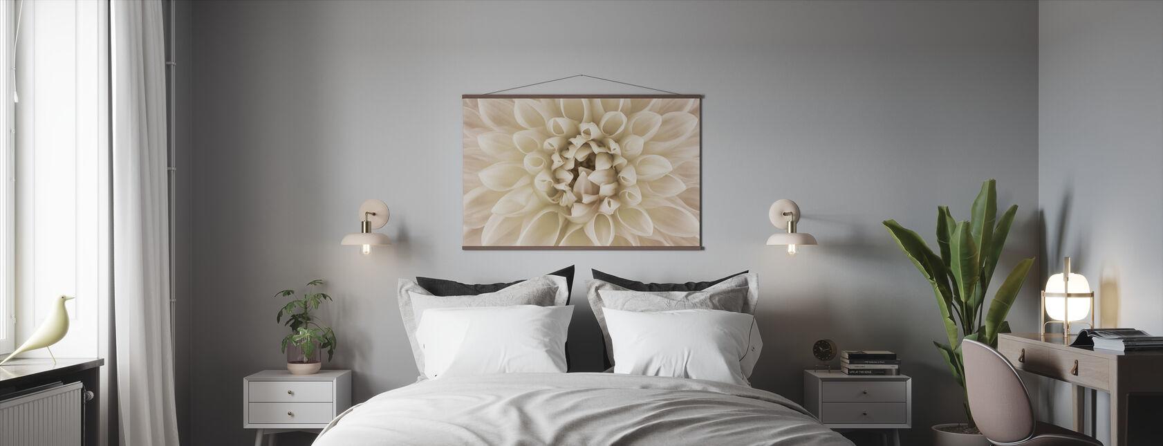 Weiße Dahlia - Poster - Schlafzimmer