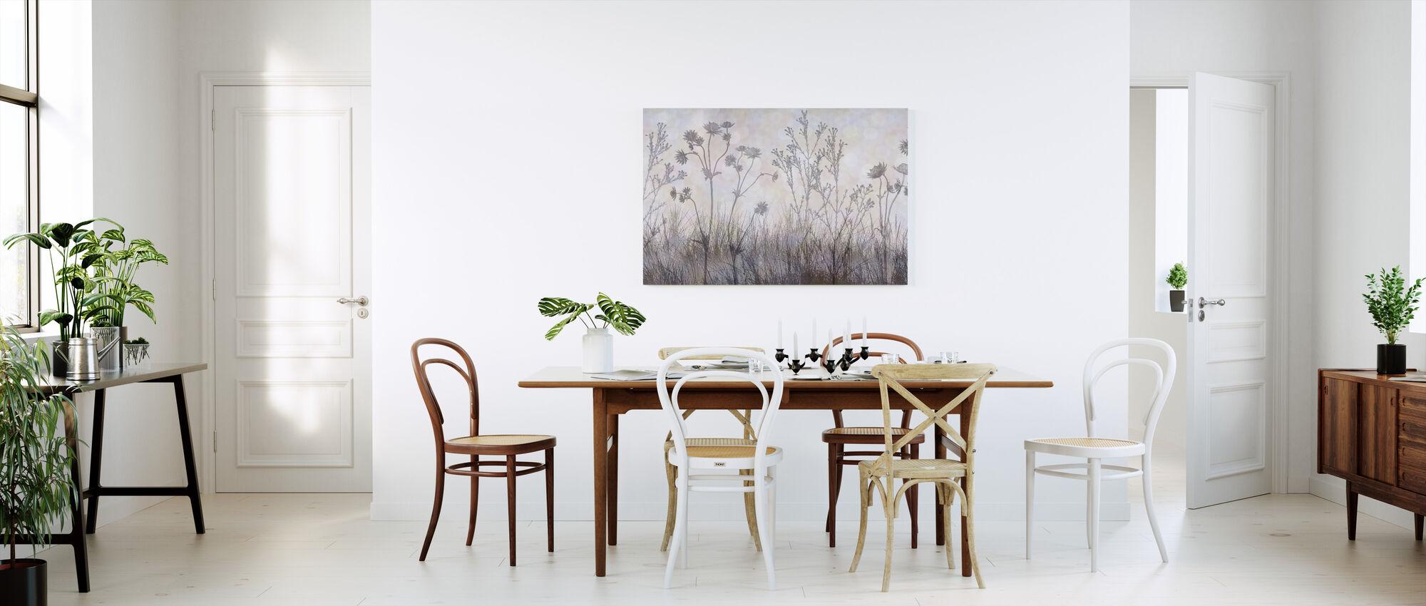 Wilde bloemen langs de Trail - Zilveren Lavender - Canvas print - Keuken