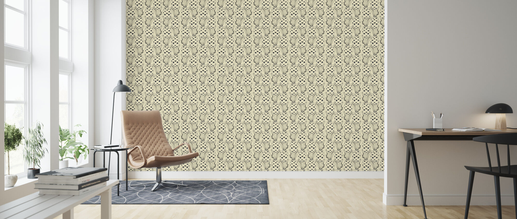 Pineapple - Curd - Wallpaper - Living Room