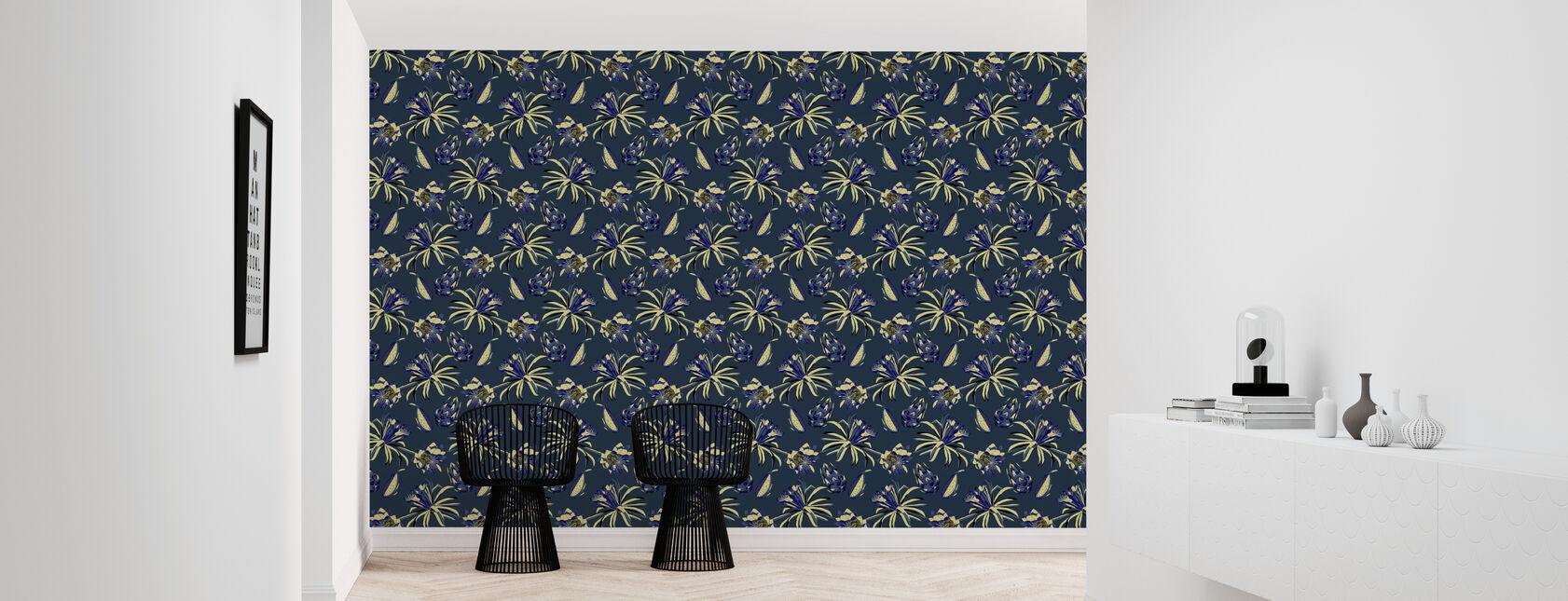 Dragon Fruit - Ultramarine - Wallpaper - Hallway