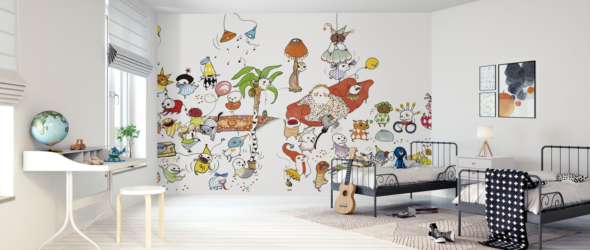 Fest XL - Behang - Kinderkamer