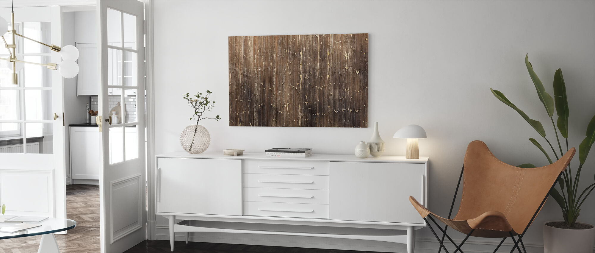 Brown Wooden Wall - Canvas print - Living Room