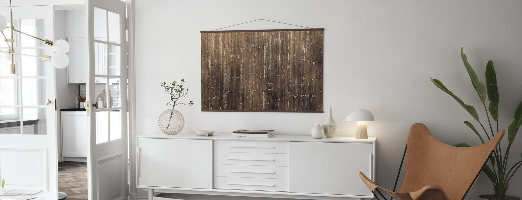 Brown Wooden Wall - Poster - Living Room