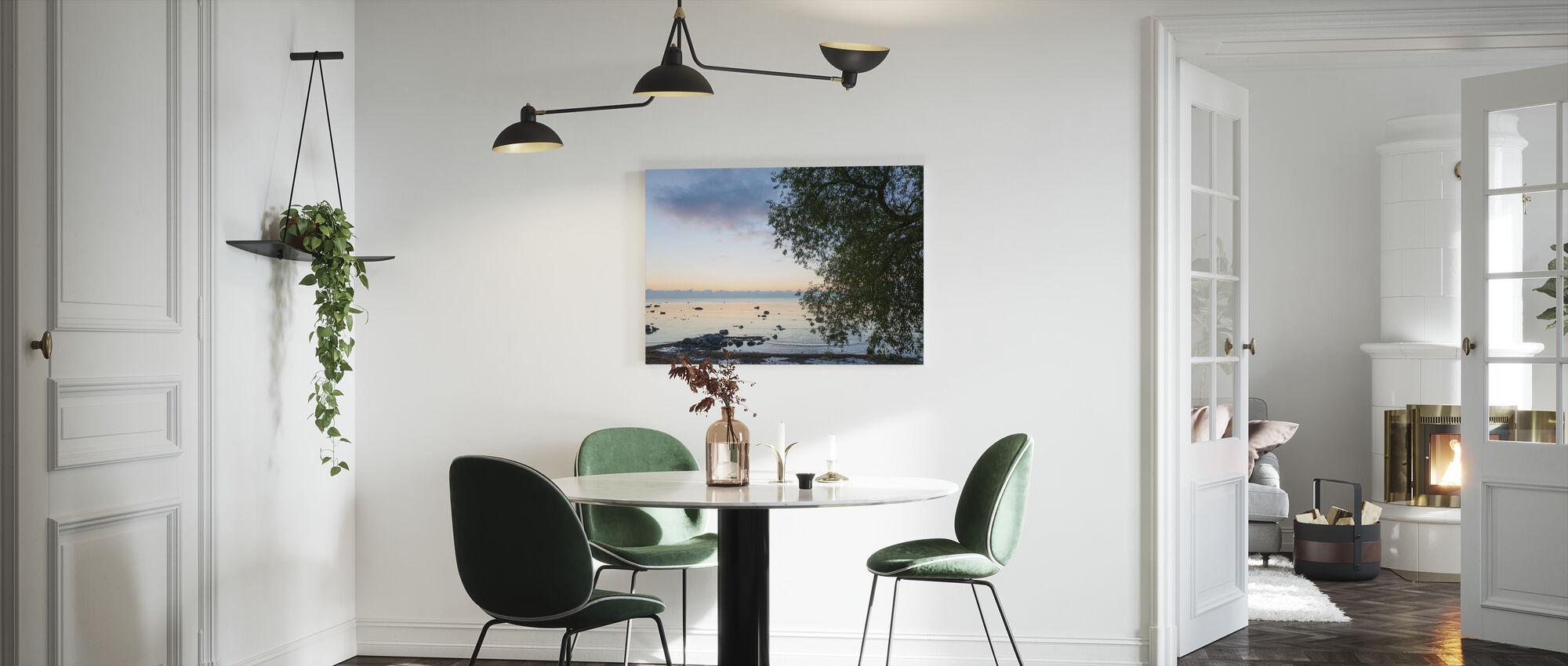 Gotland Sea Landscape at Sunset - Canvas print - Kitchen