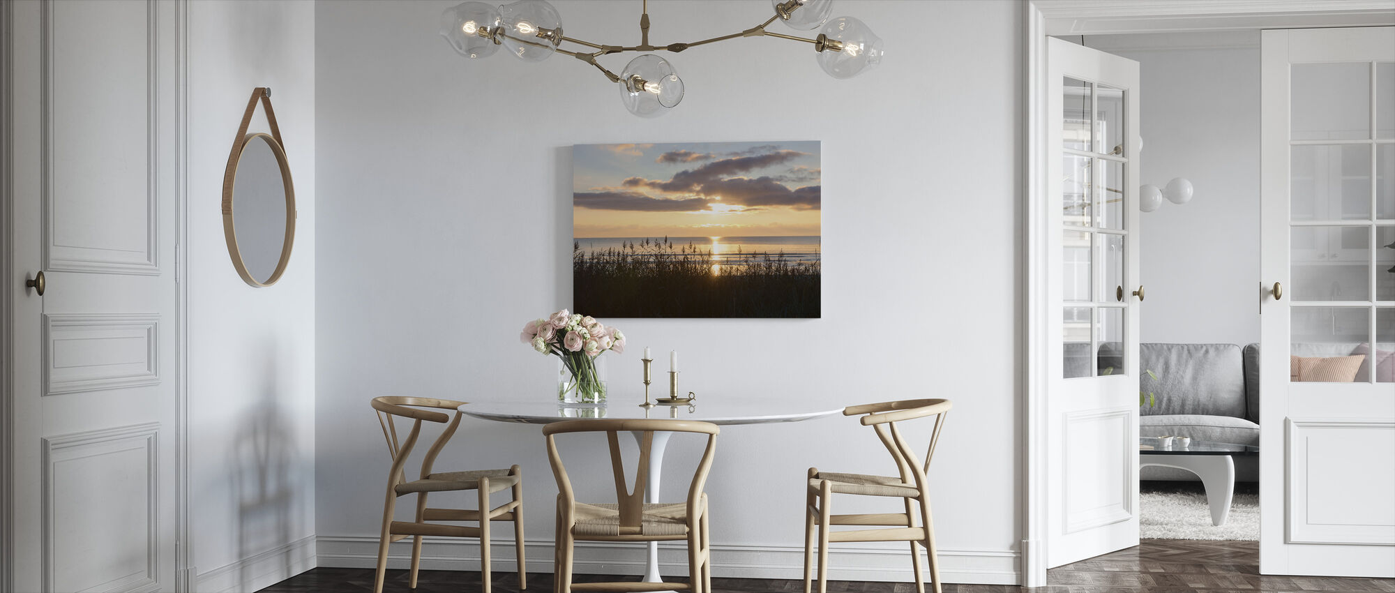 Grass and Sunset - Gotland - Canvas print - Kitchen