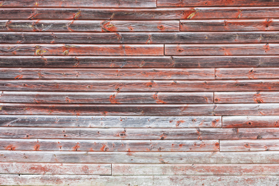 Old Red Wooden Wall Fototapeter & Tapeter 100 x 100 cm
