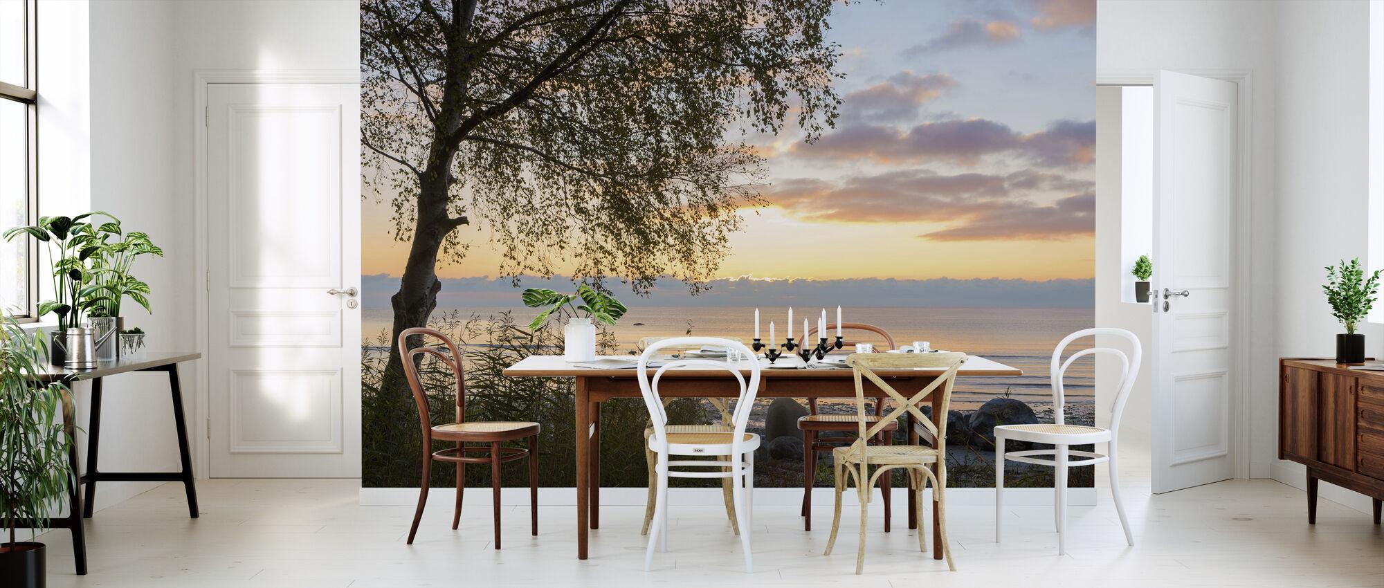 Træ ved solnedgang - Gotland - Tapet - Køkken