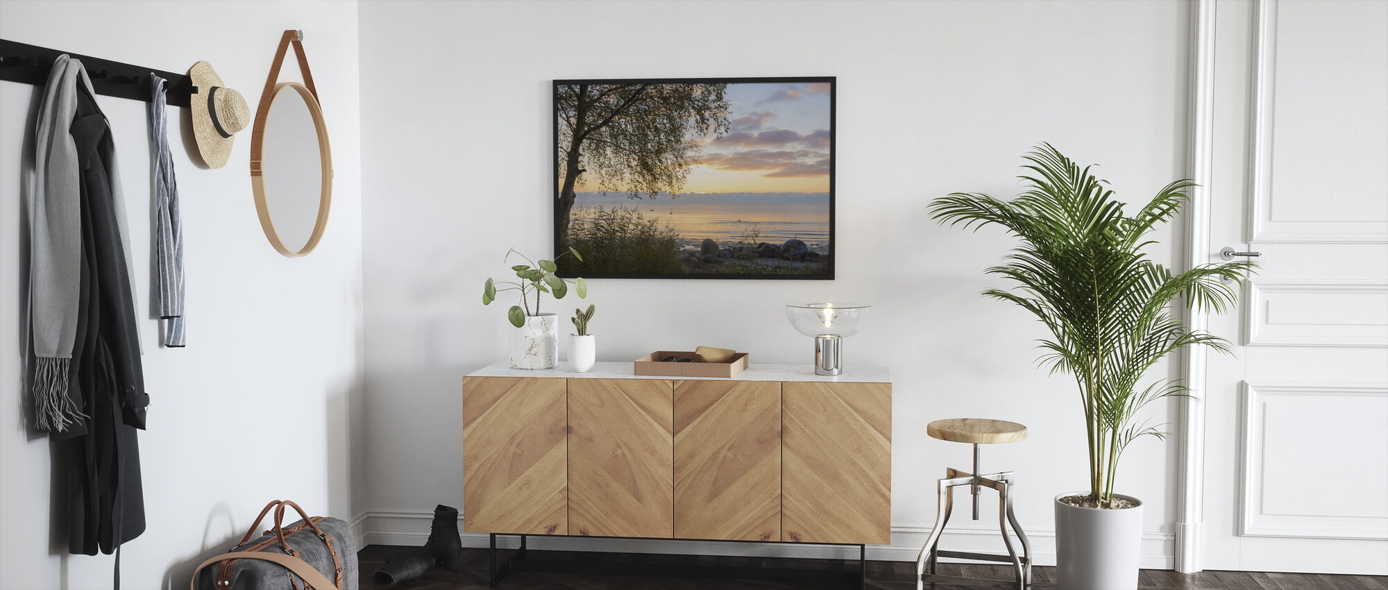 Tree at Sunset - Gotland - Framed print - Hallway