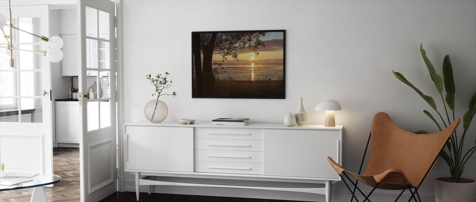 Yellow Sun over the Gotland Sea - Framed print - Living Room