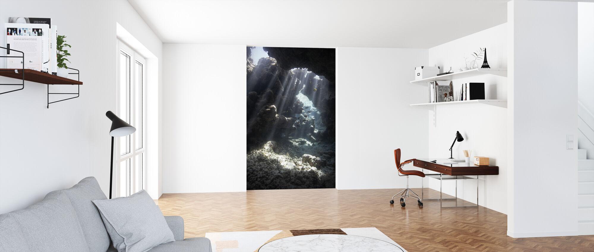 Sunbeams through Water - Wallpaper - Office
