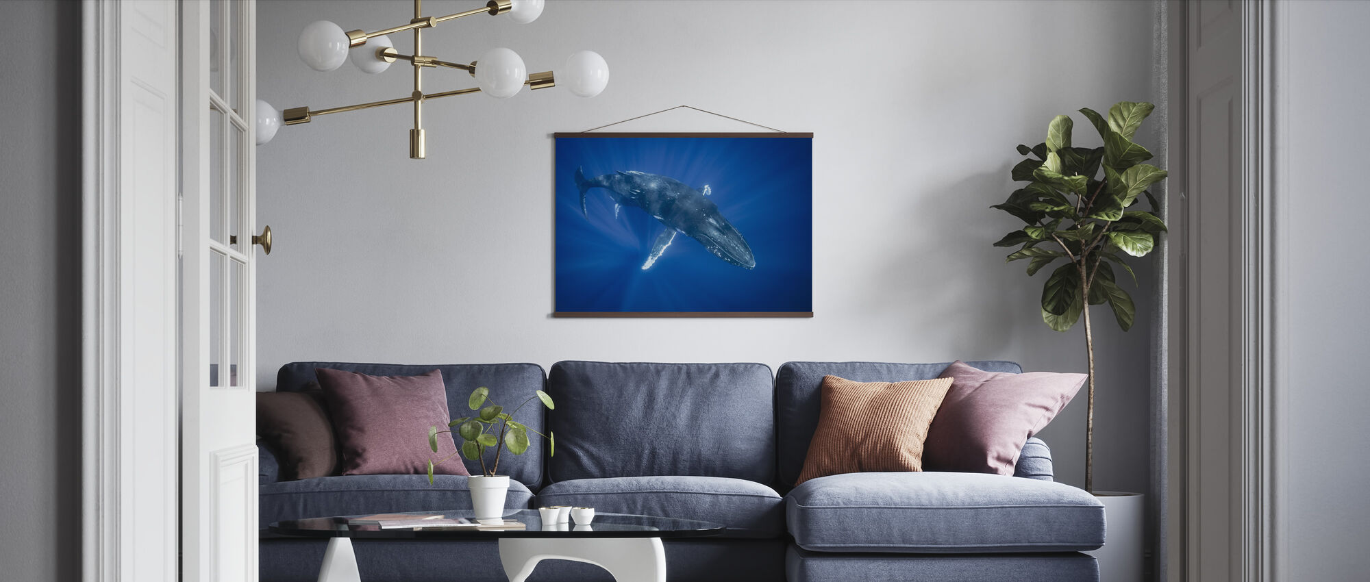 Majestic Humpback Whale - Poster - Living Room