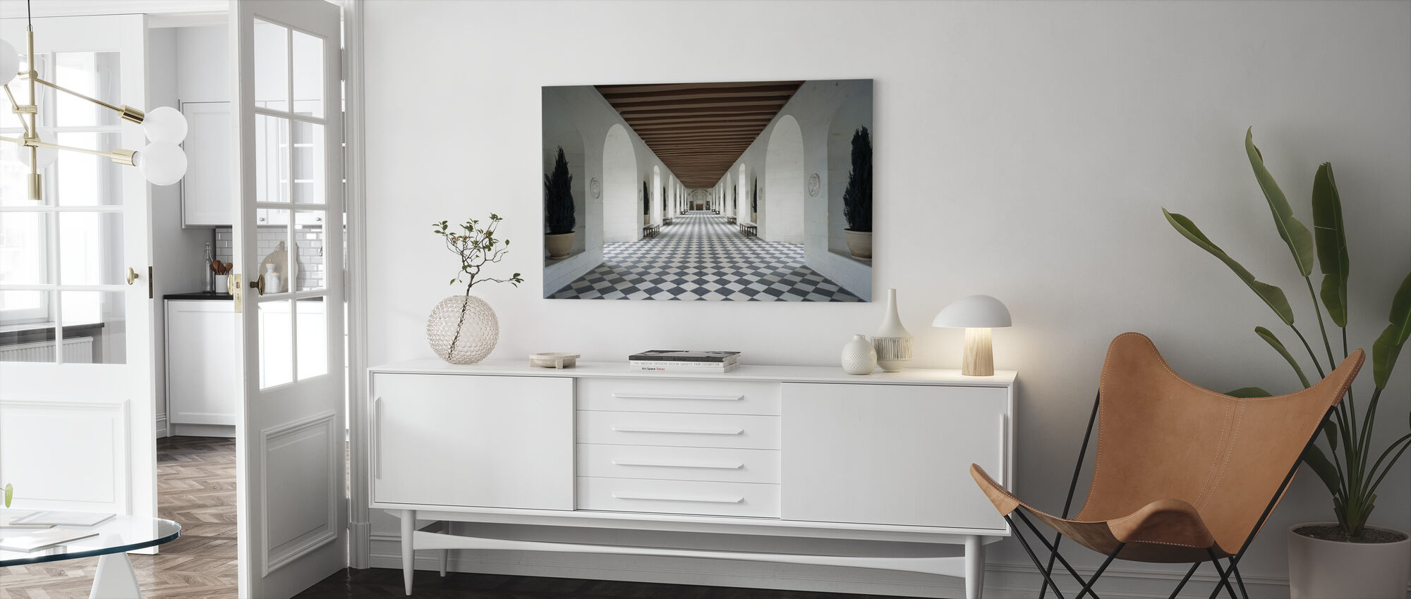 Castle of Chenonceaux - Canvas print - Living Room