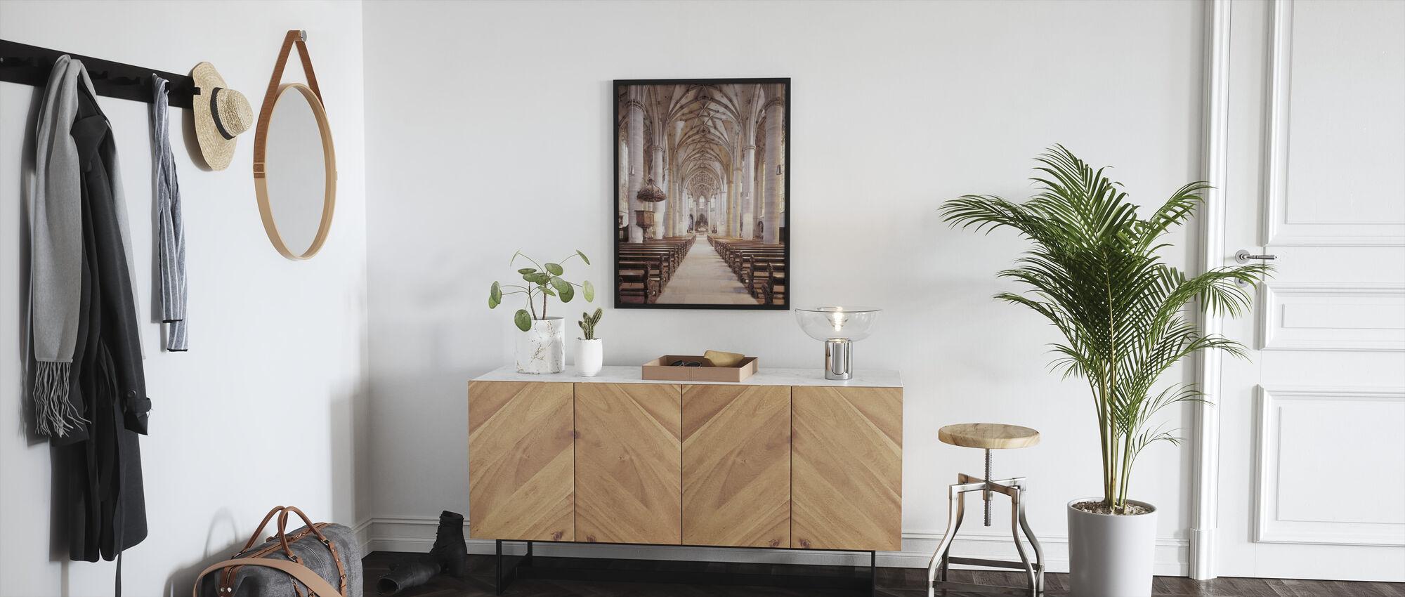 Gmuender Münster - Framed print - Hallway