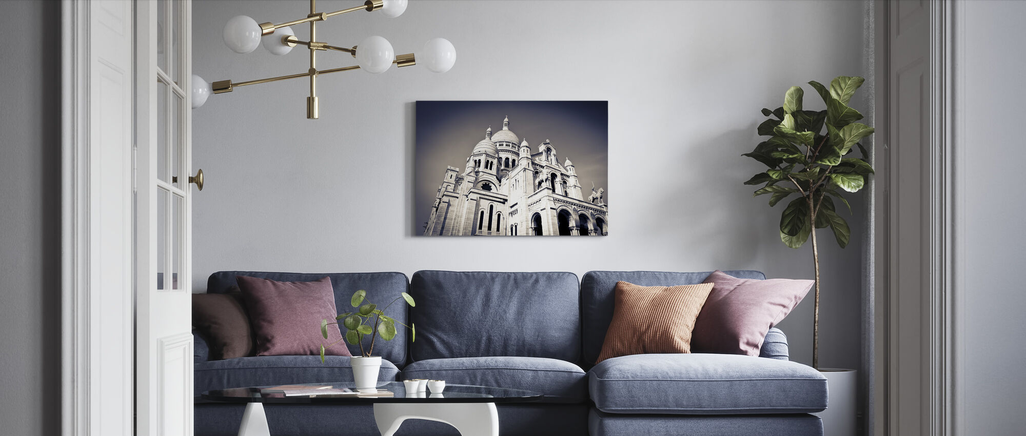 Sacre Coeur Basilica i Montmarte - Canvastavla - Vardagsrum