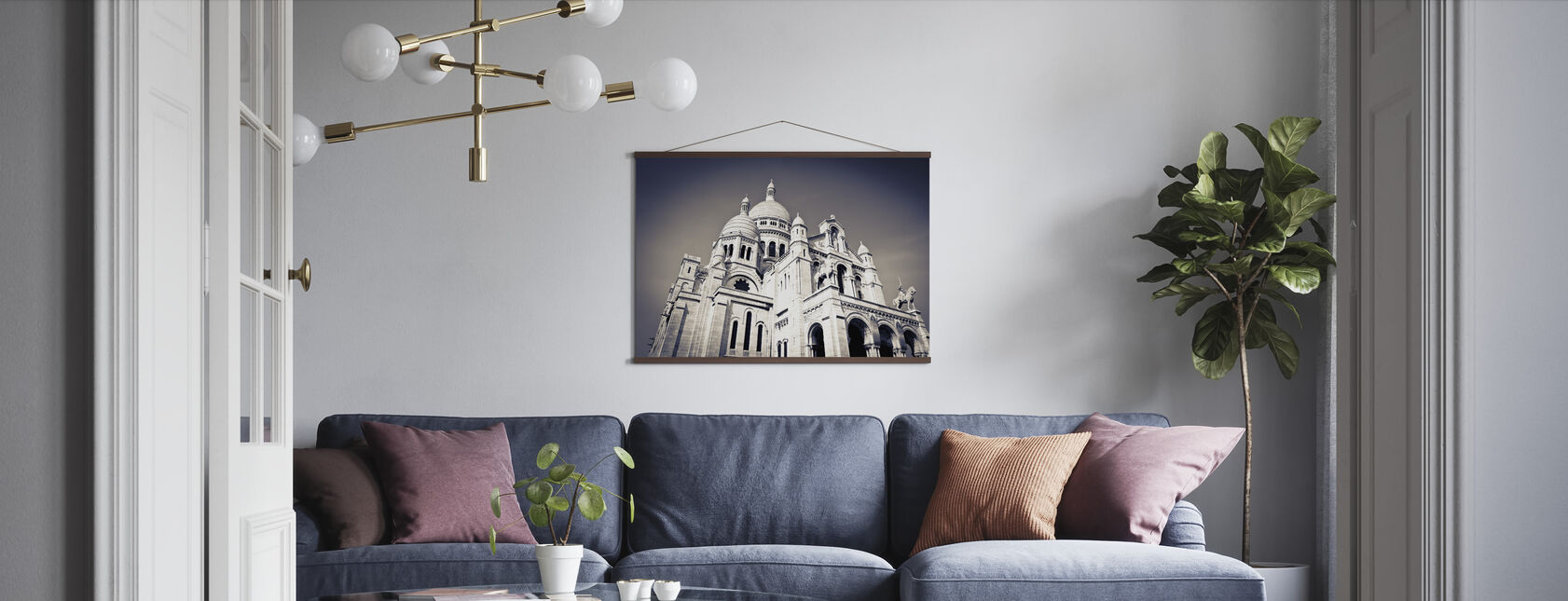 Sacre Coeur Basilica in Montmarte - Poster - Living Room