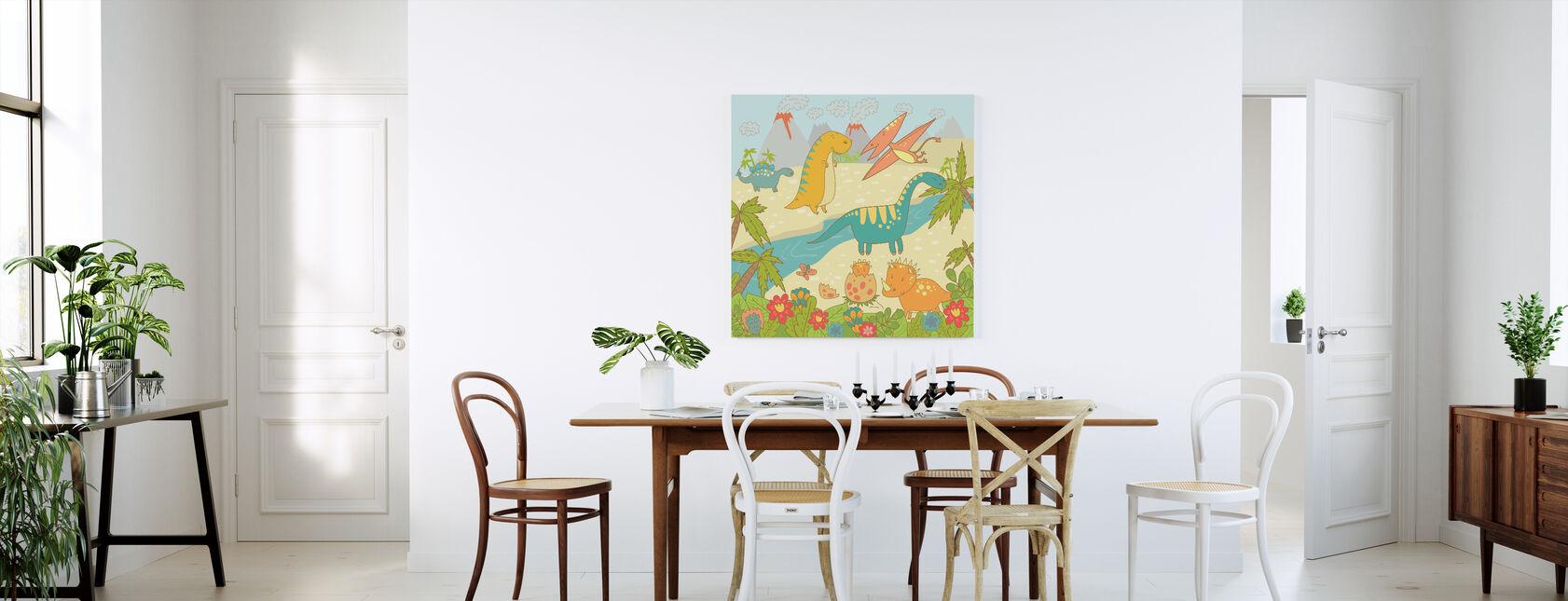 Dinosaurier World - Canvastavla - Kök