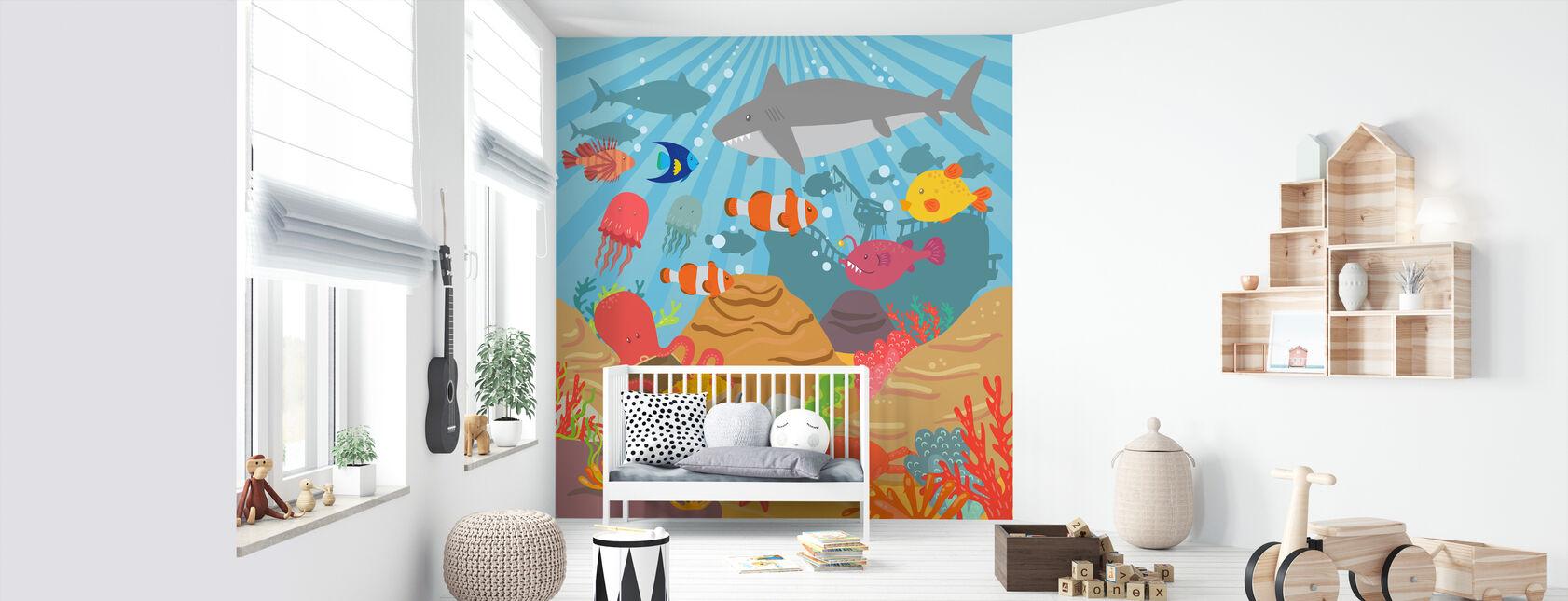Ocean Äventyr - Tapet - Babyrum