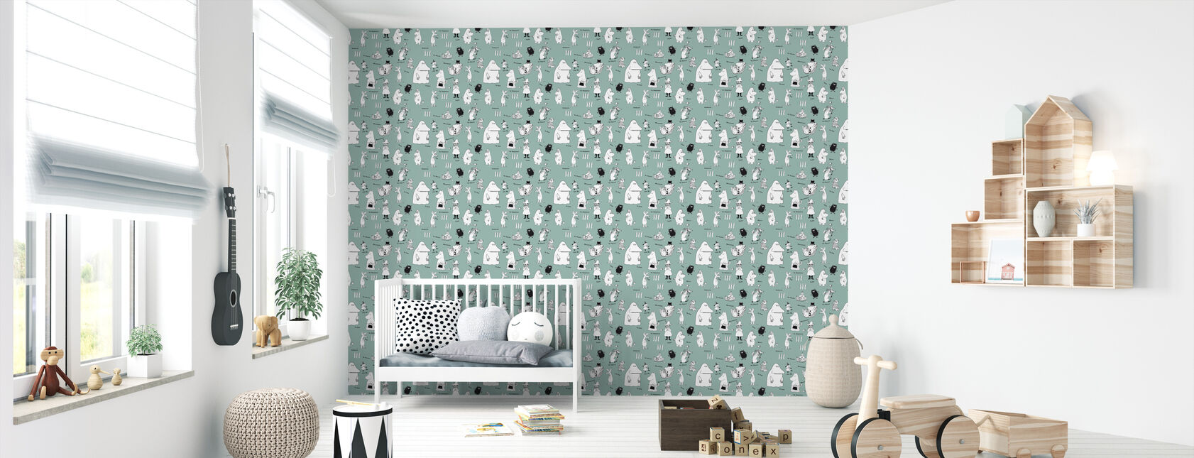 Moomin - Characters Green - Wallpaper - Nursery