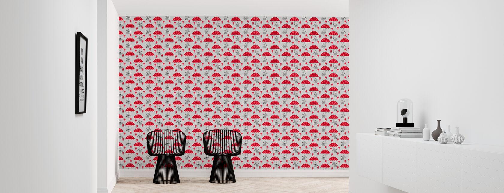 Moomin - Little My with Umbrellas - Wallpaper - Hallway