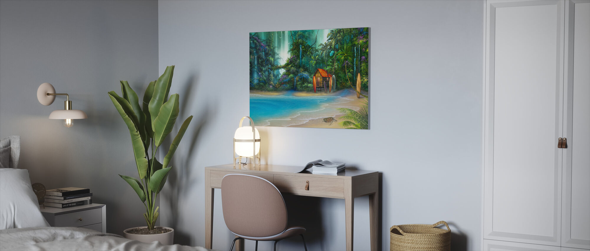 Surf Shack - Canvas print - Office