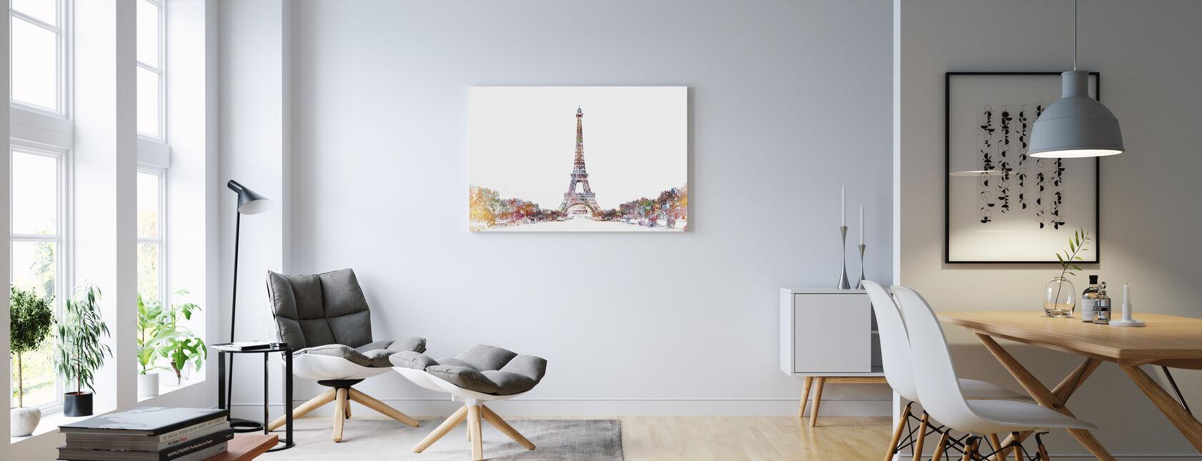 Eiffel Tower Color Splash - Canvas print - Living Room