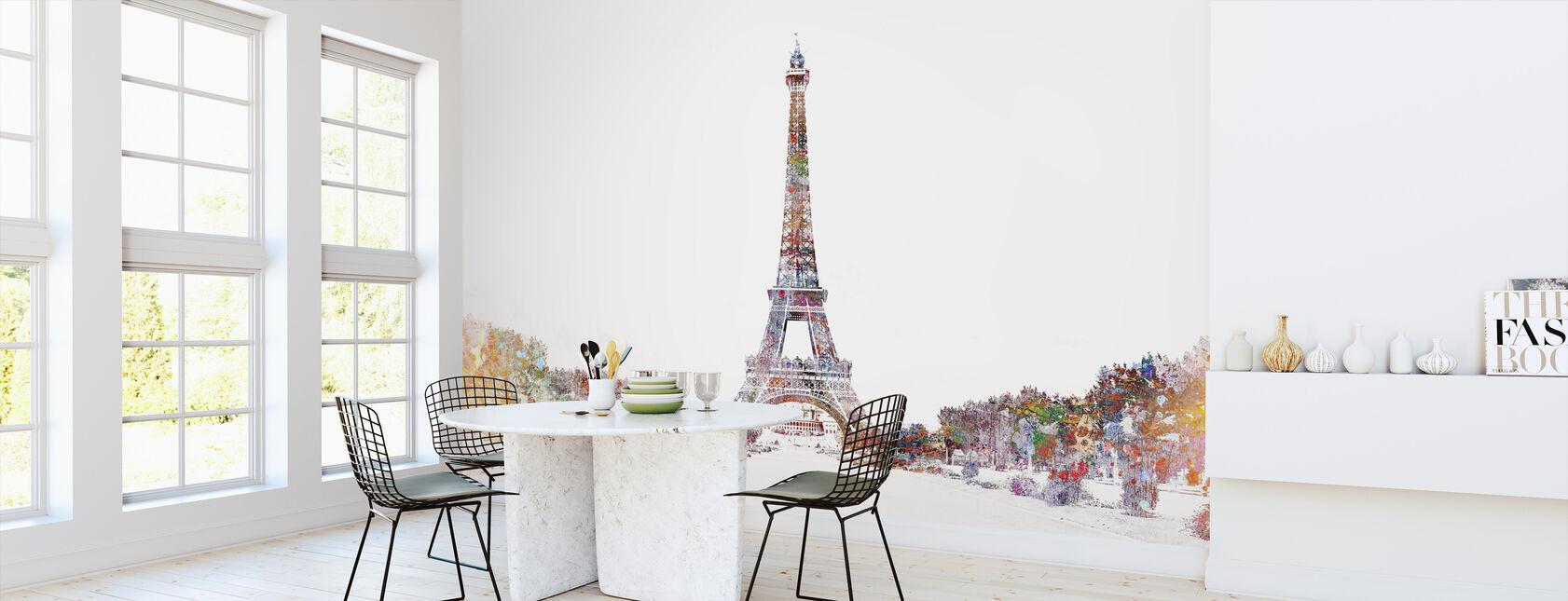 Eiffelturm Color Splash - Tapete - Küchen