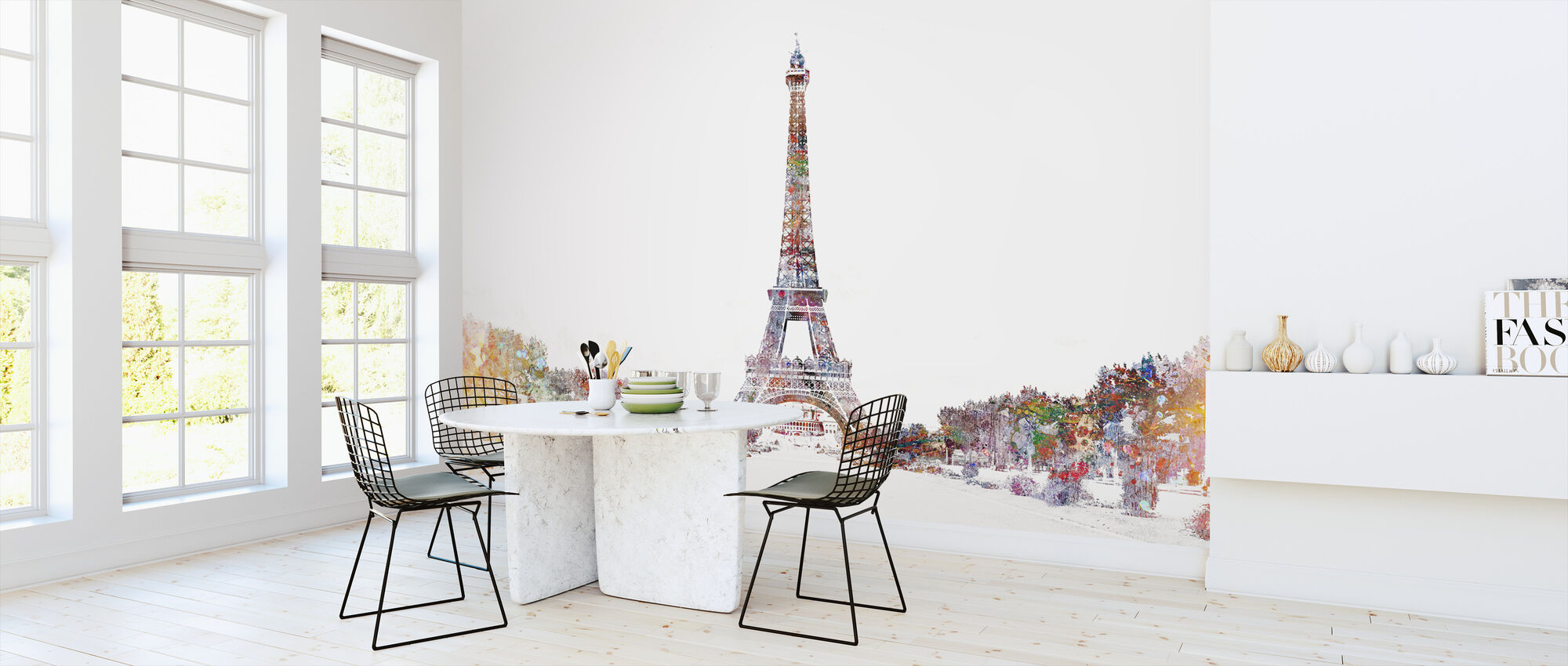 Eiffel Tower Color Splash - Wallpaper - Kitchen