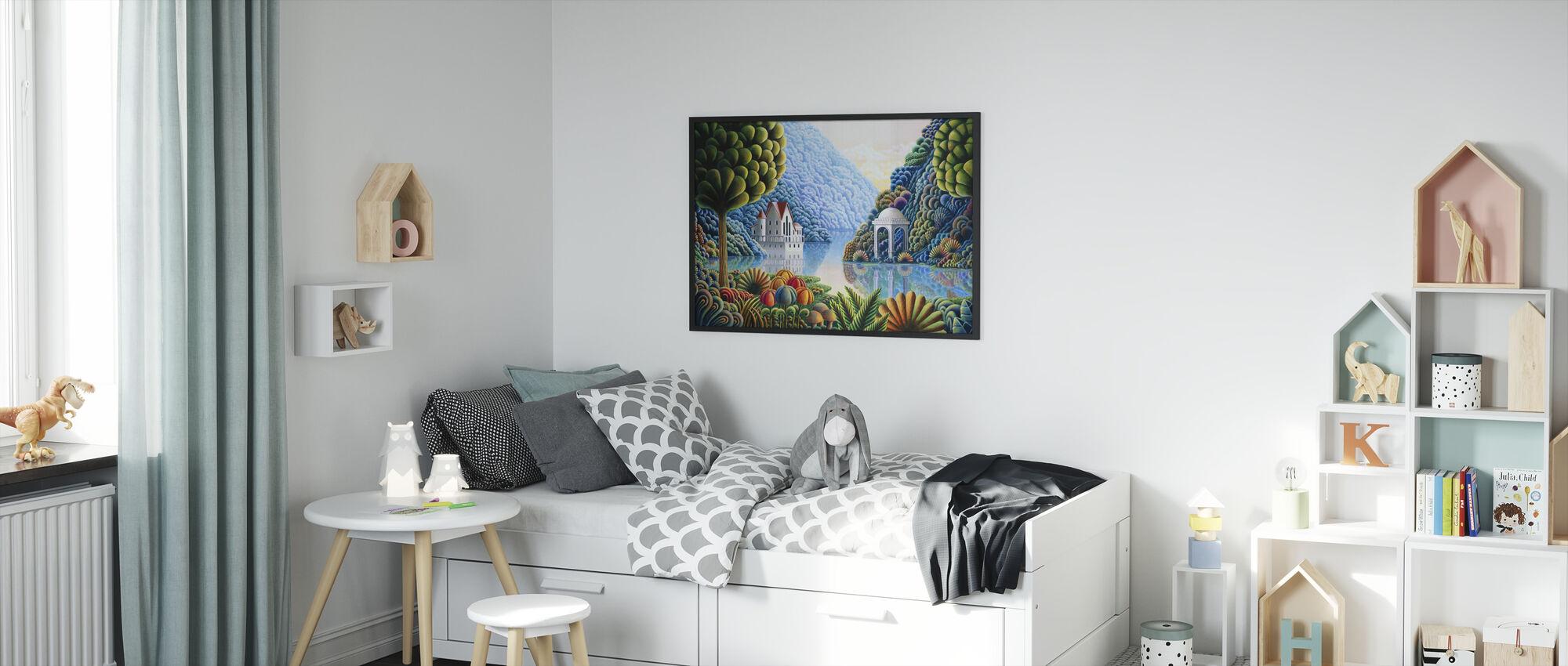 Teal Lake - Framed print - Kids Room