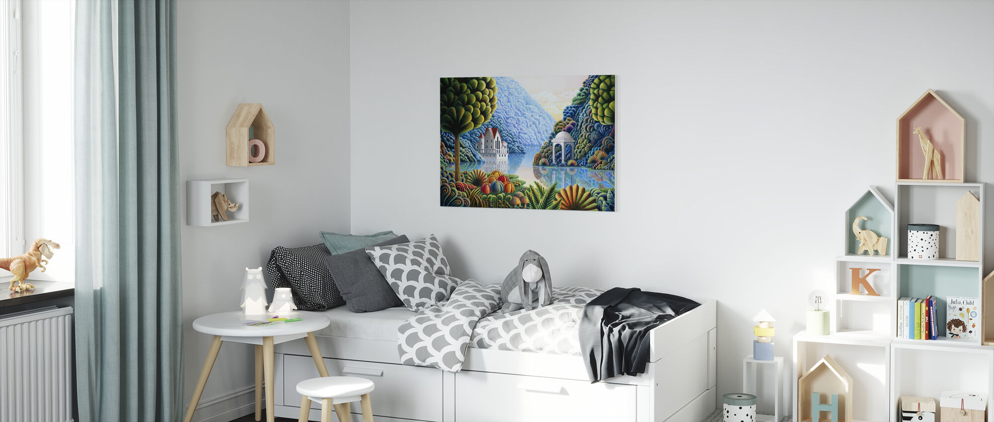 Teal Lake - Canvas print - Kids Room