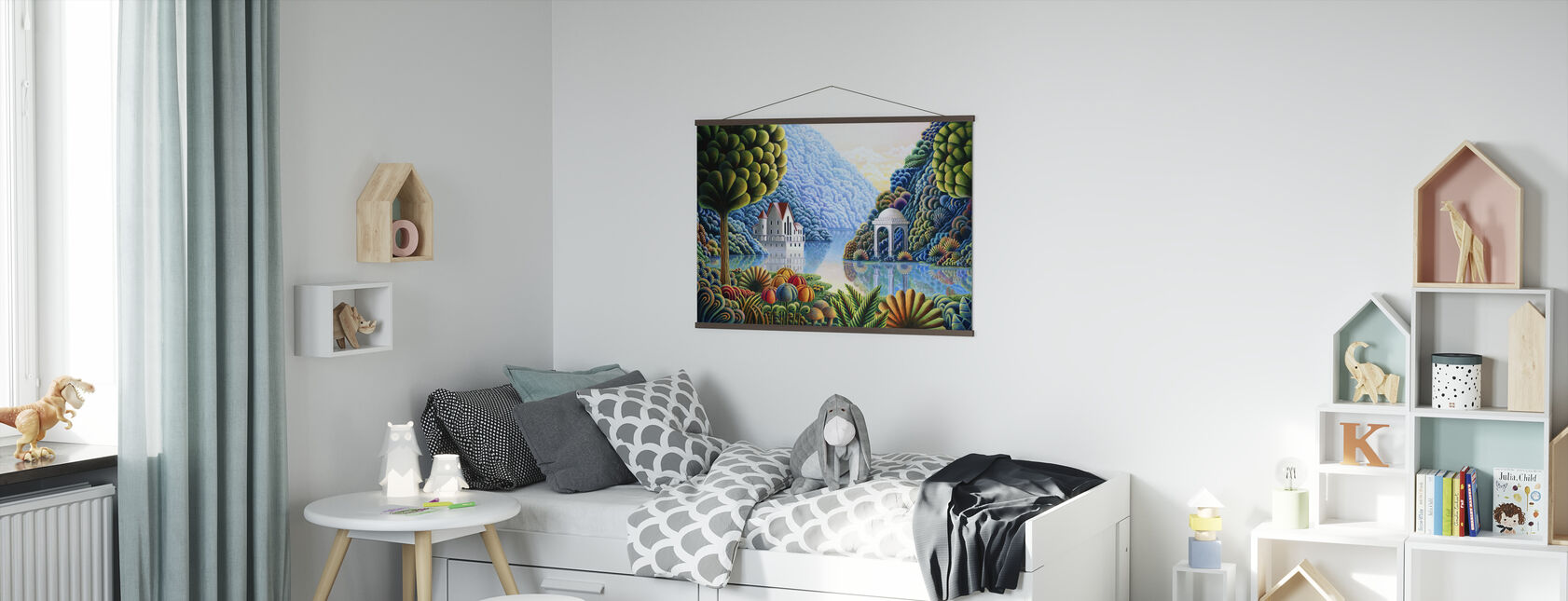 Teal Lake - Poster - Kids Room