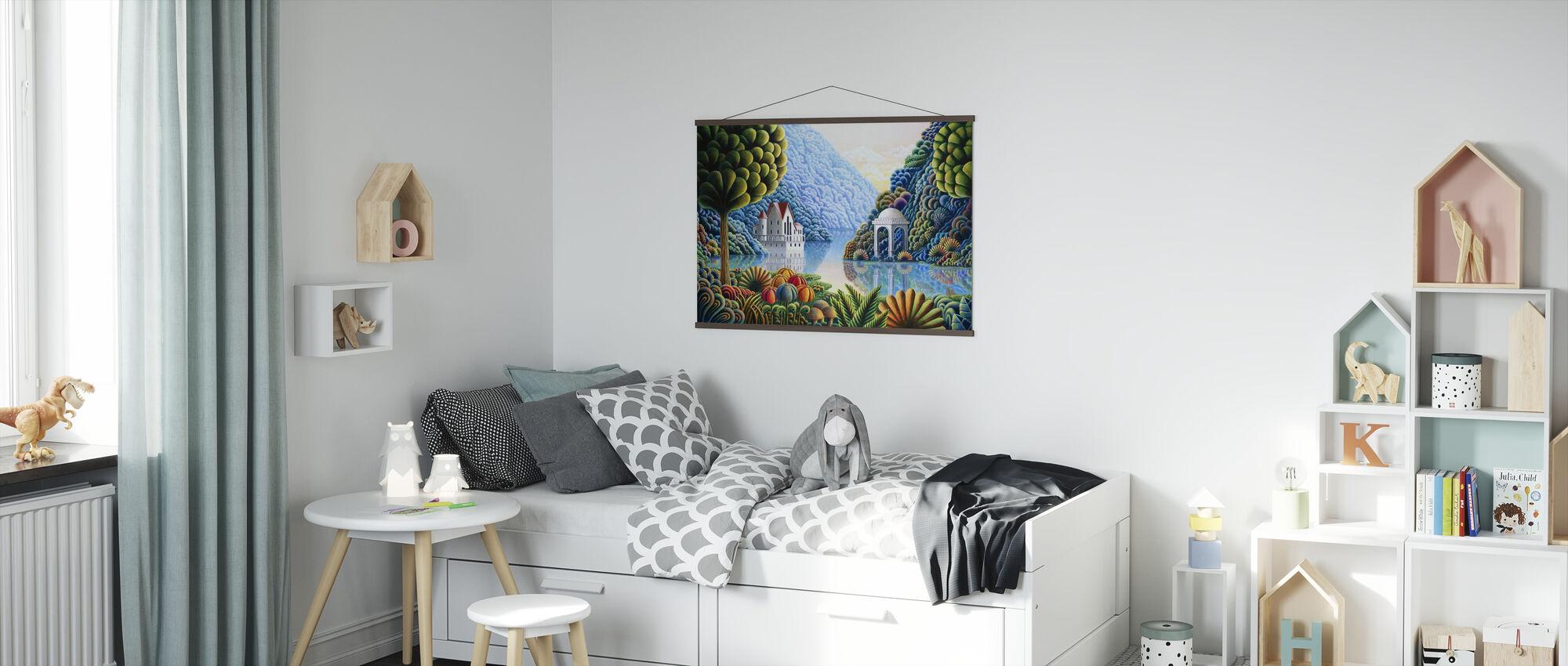 Teal Lake - Poster - Kids Room