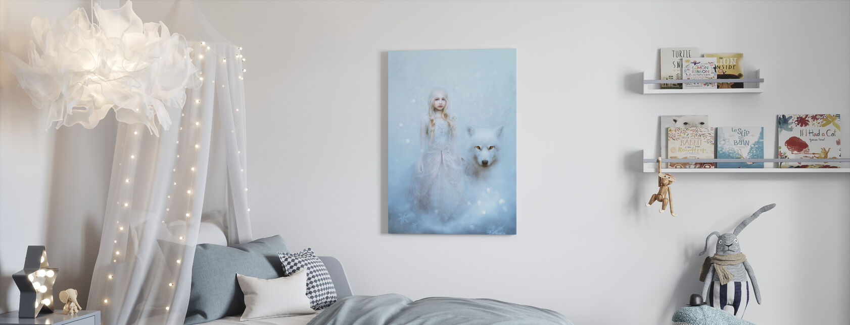 Sneeuwprinses - Canvas print - Kinderkamer