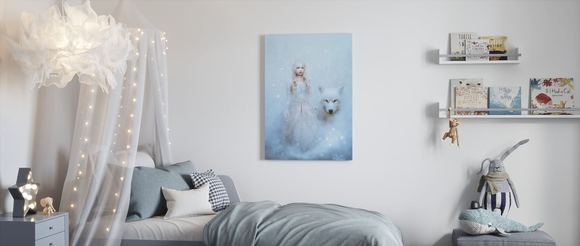 Sneeuwprinses - Canvas print - Kinderkamer