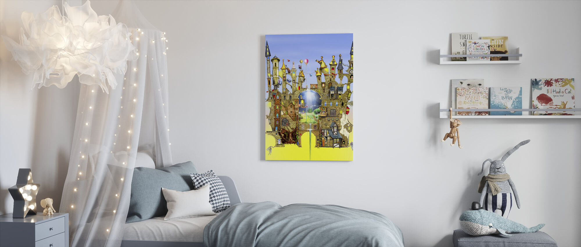 Slott i luften - Canvastavla - Barnrum